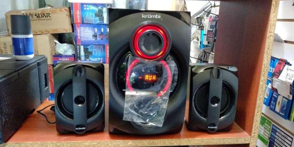 POTENTE MICROCOMPONENTE 2.1 CON 6 MESES DE GARANTIA USB BLUETOOTH RADIO FM