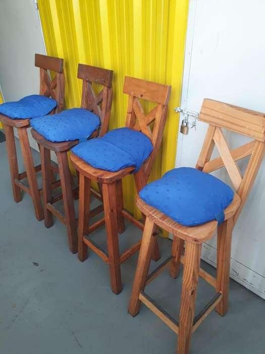 Juego X6 Banquetas <strong>sillas</strong> Altas Desayunadoras Barra Bar Pintadas