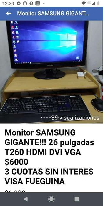Monitor Samsung 26 Pulg Gigante T260