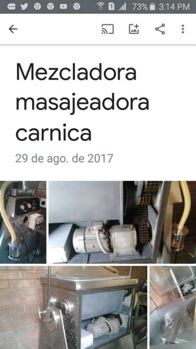Masajeadora Mezcladora Carnica Vacio