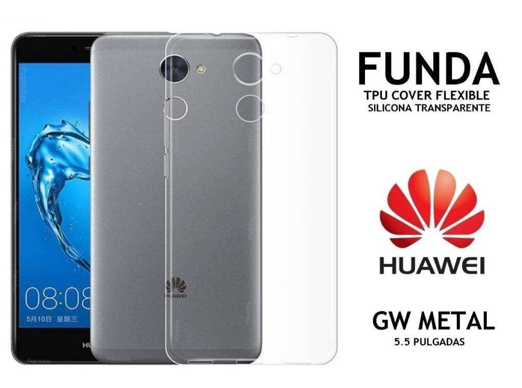 75ee1cacce6 Funda Silicona Flexible Transparente Huawei Gw Metal Rosario