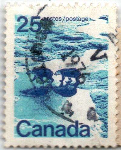 CANADA. ESTAMPILLA. 25 CENTS. 1972. SW 509. ESTADO 6 DE 10. VALOR 5300