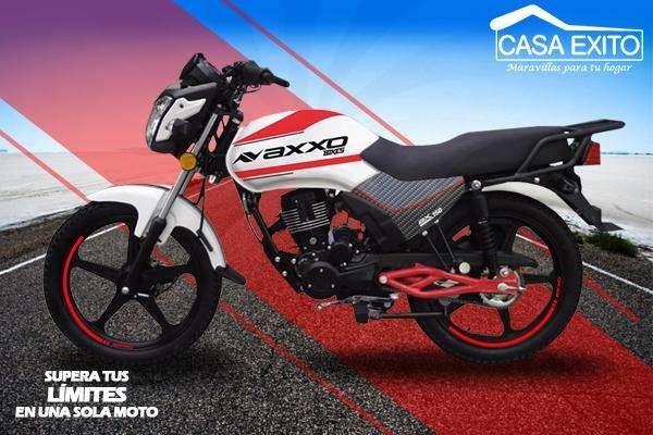 Moto Axxo Ax150 Año 2019 150cc Color Blanco / Negro / Rojo Casa Éxito