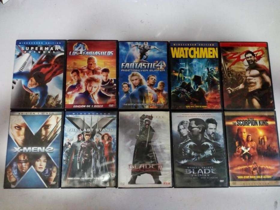 superman, los 4 fantasticos, watchmen, x men, blade, 300, Vendo o cambio peliculas en DVD originales, negociables!!!