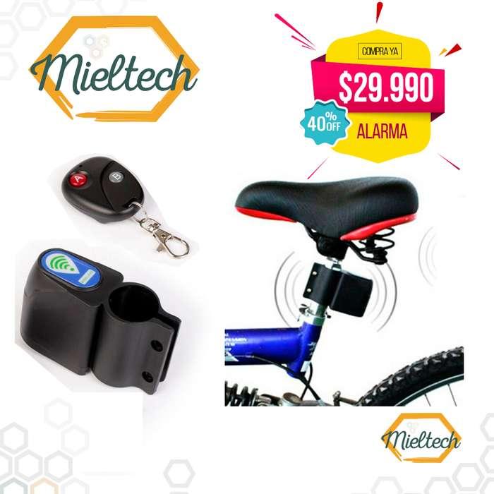 Alarma de Bicicleta Cicla o moto con Control Remoto Sirena Tipo Carro