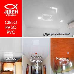 Duelas en PVC para cielo raso, tumbados, techos desde 6.60 Policarbonato, Alucobond, Acrílico