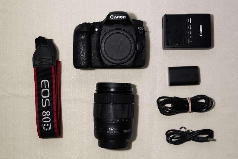 Canon Eos 80d Lente 18-135 Ef-s Bolso