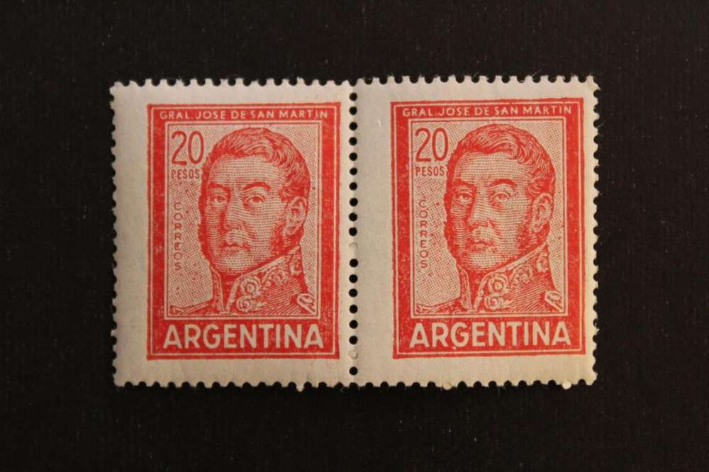 BLOCK 2 ESTAMPILLAS 1967, SAN MARTIN, VALOR 20., MINT