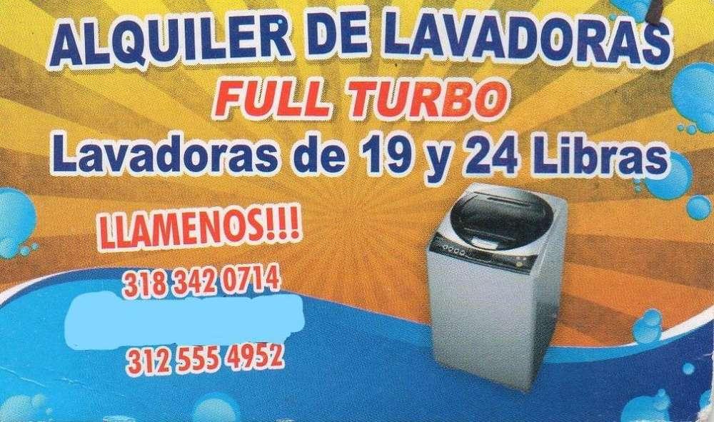 ALQUILER DE LAVADORAS FULL TURBO LLAMENOS¡¡¡