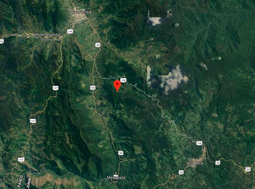 Vendo terreno agro forestal de 44 hectáreas a 10km de Oxapampa