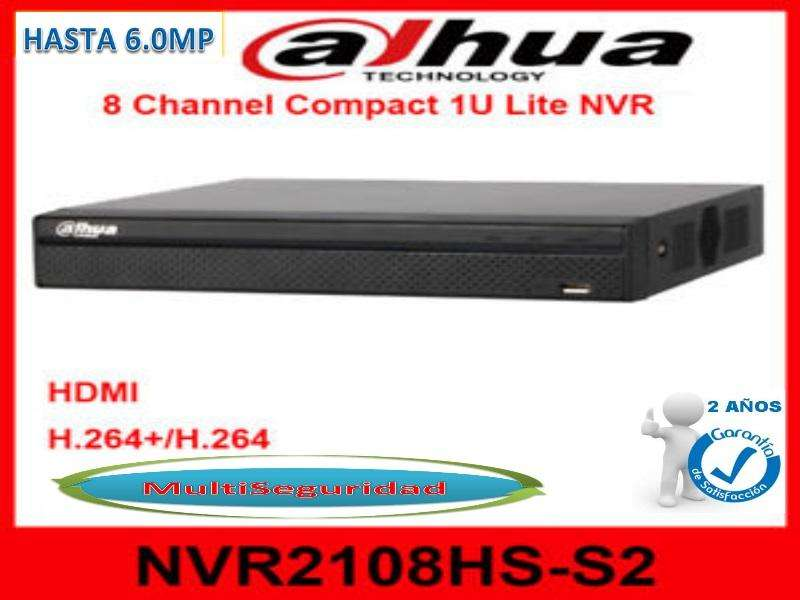 NVR IP DAHUA 8CH HASTA 6MP DH NVR2108HS S2