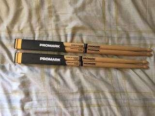 Bateria Palillos Promark American Hickory Tx5bw 5b Punta Madera