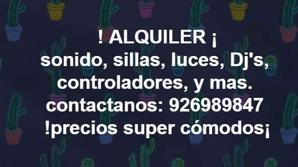 ALQUILER, DE TODO PARA TU FIESTA¡