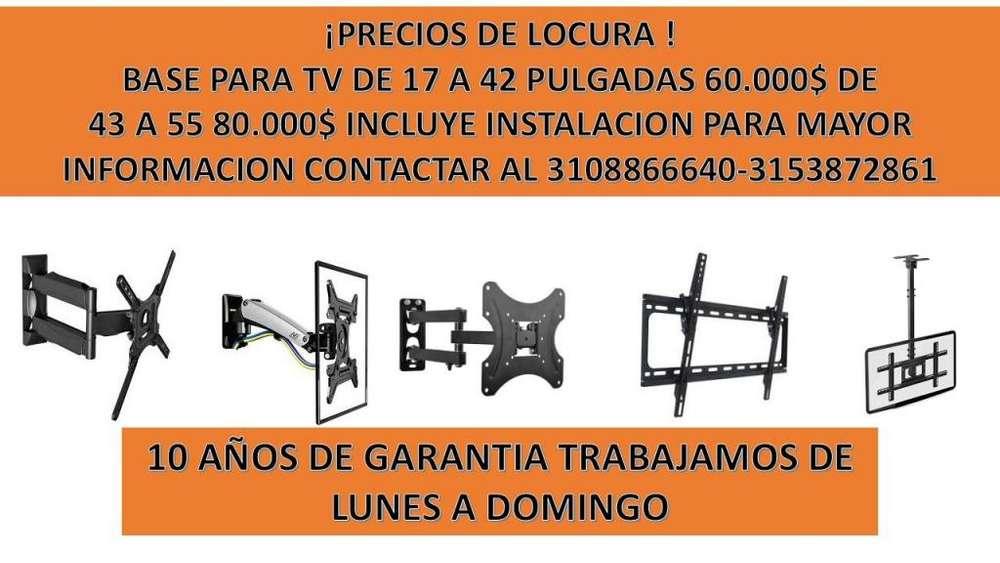 bases soportes y repisas para tv 3108866640