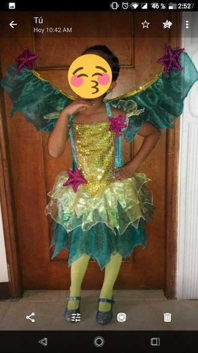 Disfraz Hada de Mar para Niña de 6 a 7
