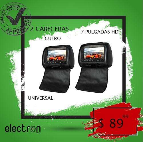 2 Cabeceras Para Carro 7 Completas Cuero Negro Hd 1080P