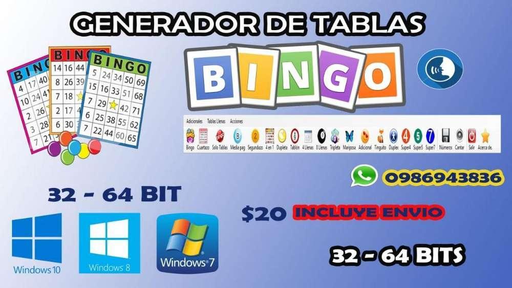 Tablas de Bingo Programa Genera Todo 201