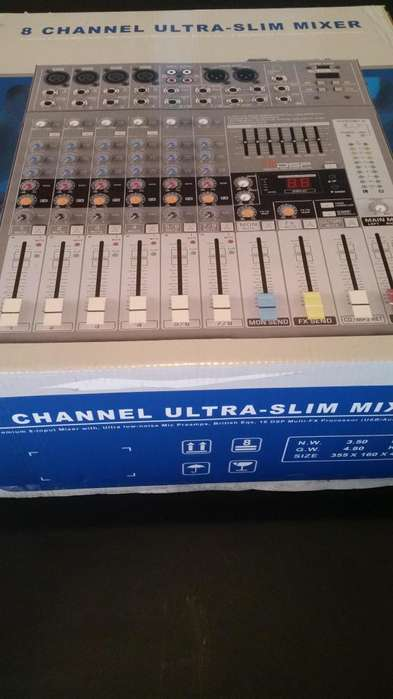 Oferton!!! Consola Nueva Mixer 8 Canales England Audio o Cambio por Celu