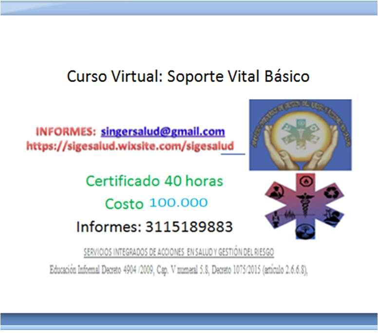 100.000 curso virtual soporte vital basico
