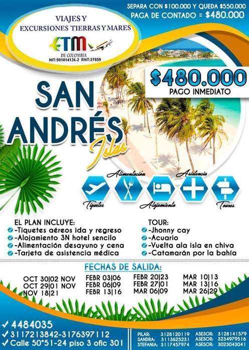 SAN ANDRÉS ISLAS DESDE 480.000