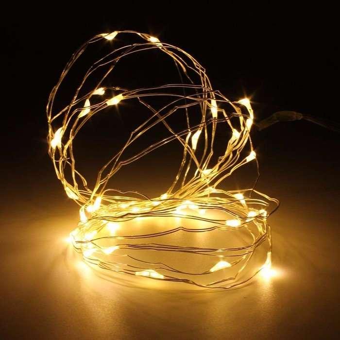 ALAMBRE LED DE 2 METROS LUCES DECORATIVAS INALAMBRICAS A PILAS PARA <strong>decoracion</strong>