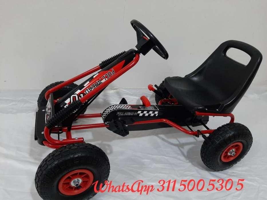 Carro de Pedal Go Kart Llanta Inflable