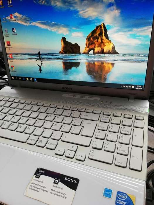 Laptop Sony Vaio Blanca 6gb Ram W10 Pro