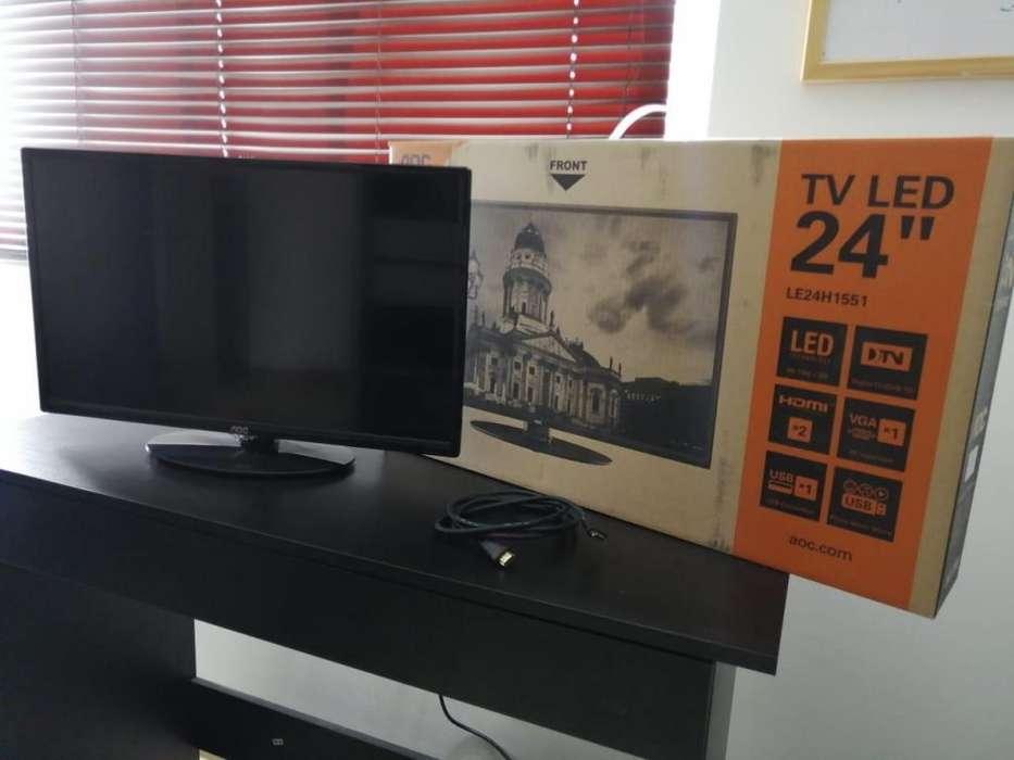 TV AOC de 24 pulgadas Ref LE24H1551 resolucion HD