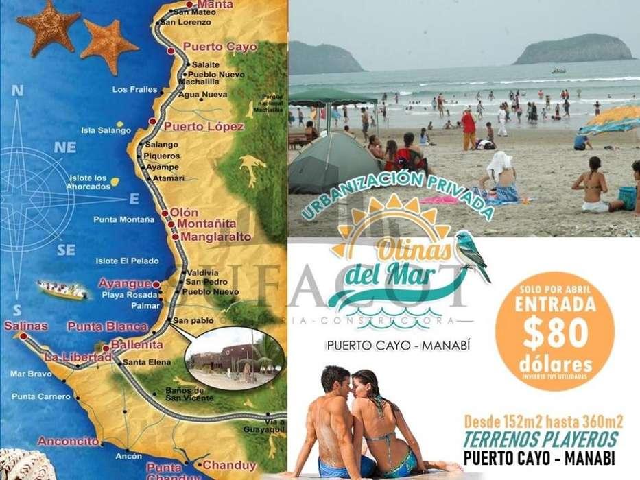 Lotes de Terreno, escrituras al dia a 3 minutos de la playa Puerto Cayo SD9