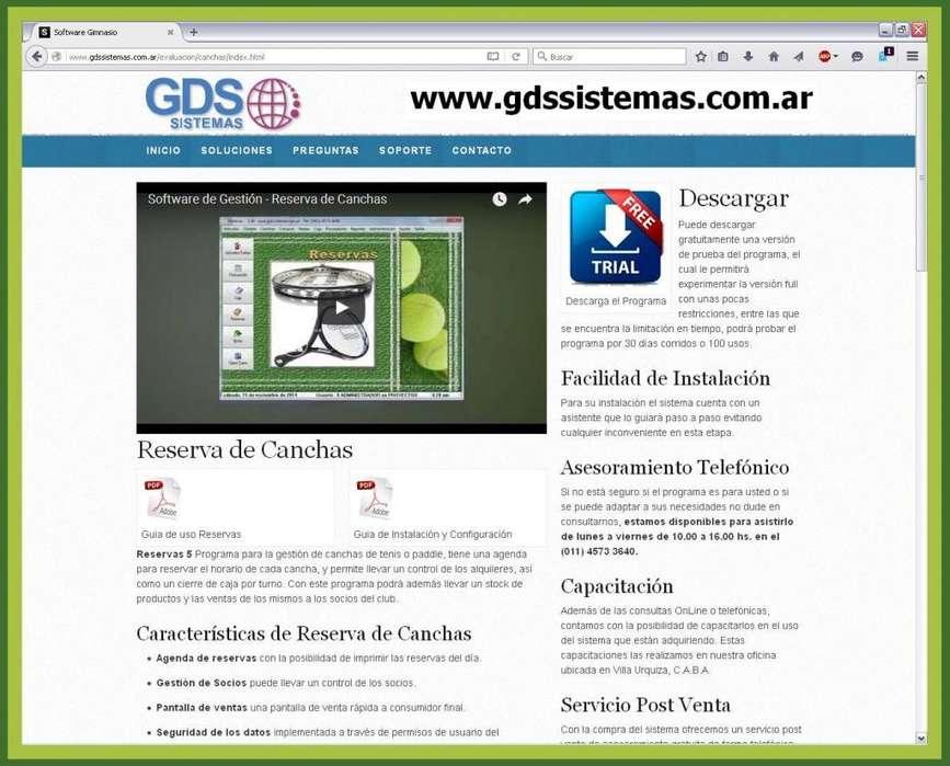 Programa de gestión comercial para alquiler de CANCHAS -:- software GDS Sistemas