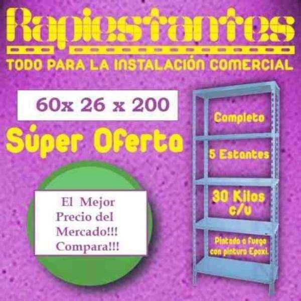 Estanteria metalica 60x26x200 30 kilos por estante rapiestantesweb 590