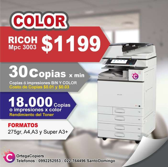 COPIADORA RICOH MPC3501 OFERTA COLOR