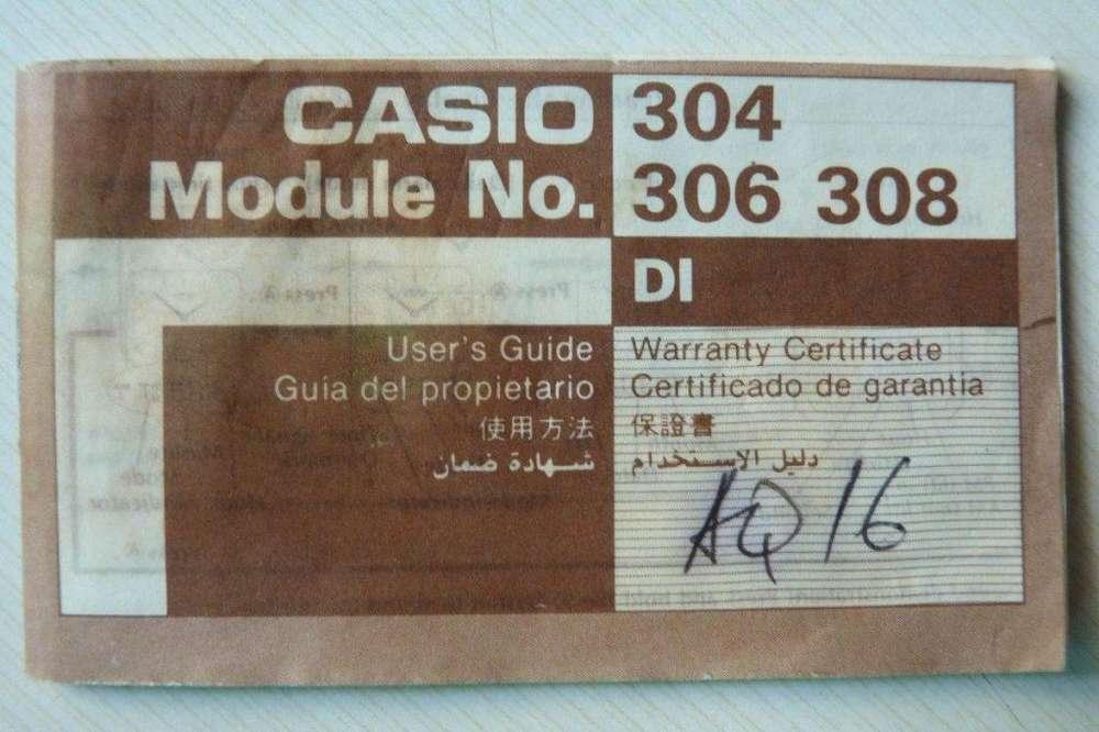 Guia De Usuario Reloj Casio Mod. 304/306/308
