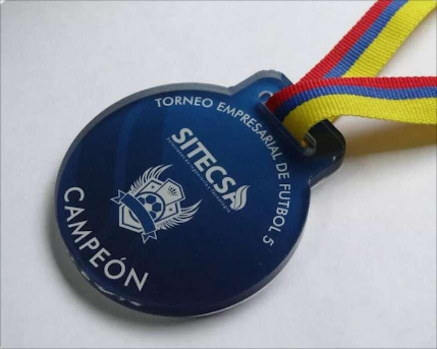 Medallas en Acrílico