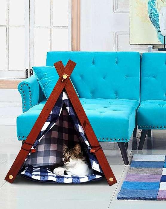 Tipi, Teepee O Casa Para Mascotas fácil de transportar.