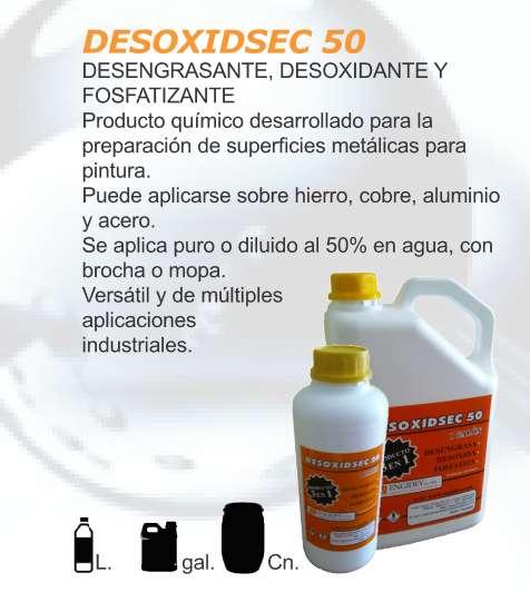 Desengrasante, desoxidante, descarbonizante y fosfatizante.