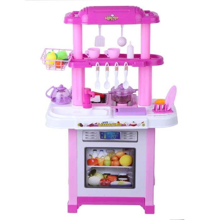 Juguete Cocina Infantil Niña Agua Luces Sonido Diversión Accesorios