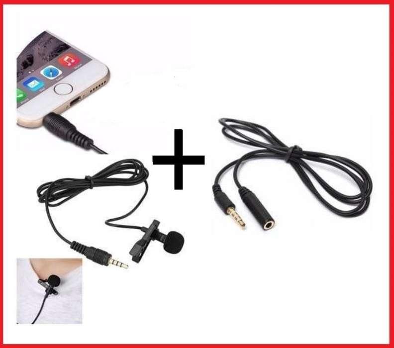 SET MICROFONO celular TRRS Y EXTENSION TRRS DE 01 MTS