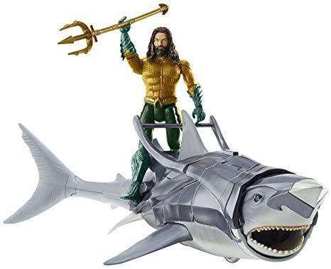 Aquaman y Tiburan de Batalla DC Comics Mattel Nuevo