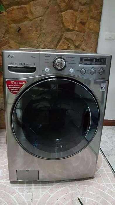 Lavadora/Secadora Carga Frontal, Eléctrica digital, 18 kilos de lavado y 9 kilos de secado, color Tipo Acero Inox