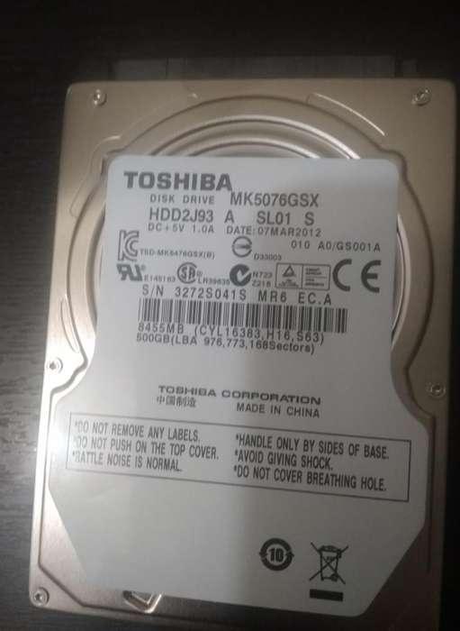 Disco duro interno de 500 Gbytes Nuevo