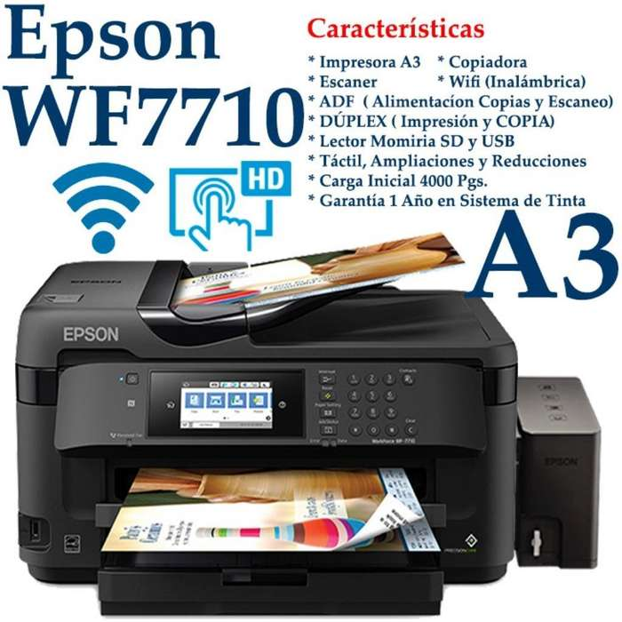 Impresora Epson Wf-7710 A3 Duplex <strong>wifi</strong>