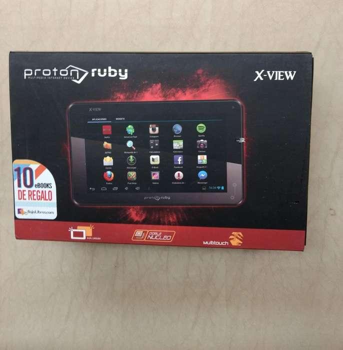 Tablet Proton Ruby XView Usada, Con Detalles