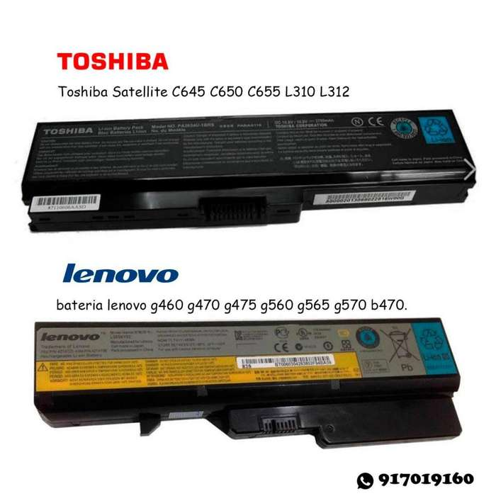 baterias para laptopS
