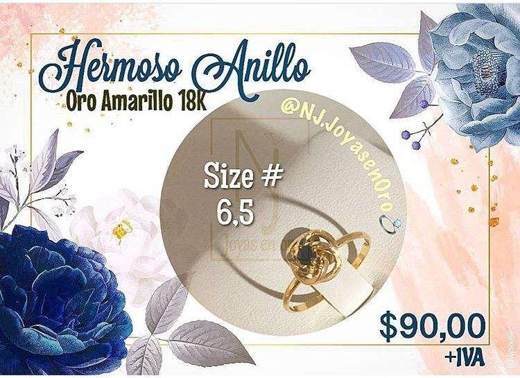Hermoso Anillo de <strong>oro</strong> 18K