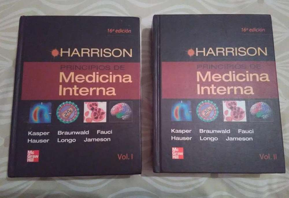 Medicina interna harrison 16 edicion 2 tomos en perfecto estado..