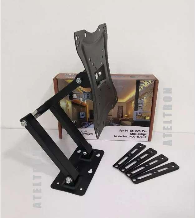 Soportes Bases Universal Tv led móviles giratorias escualizables 19-42 instalación garantizada