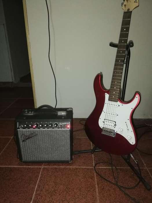 Guitarra Eléctrica Y Amplificador Fender
