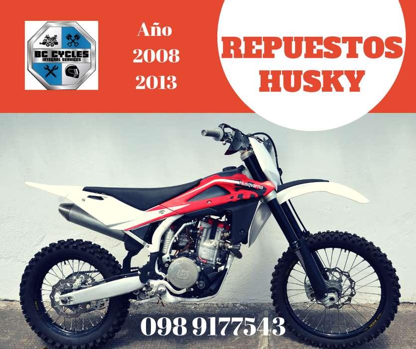 Repuestos originales, para tu moto Husqvarna, desde 2008 a 2013.