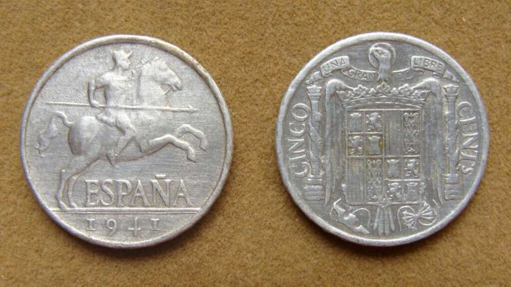 Moneda de 5 céntimos, España 1941